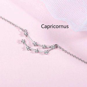 NEW 925 Sterling Silver Zodiac Bracelet-Capricorn